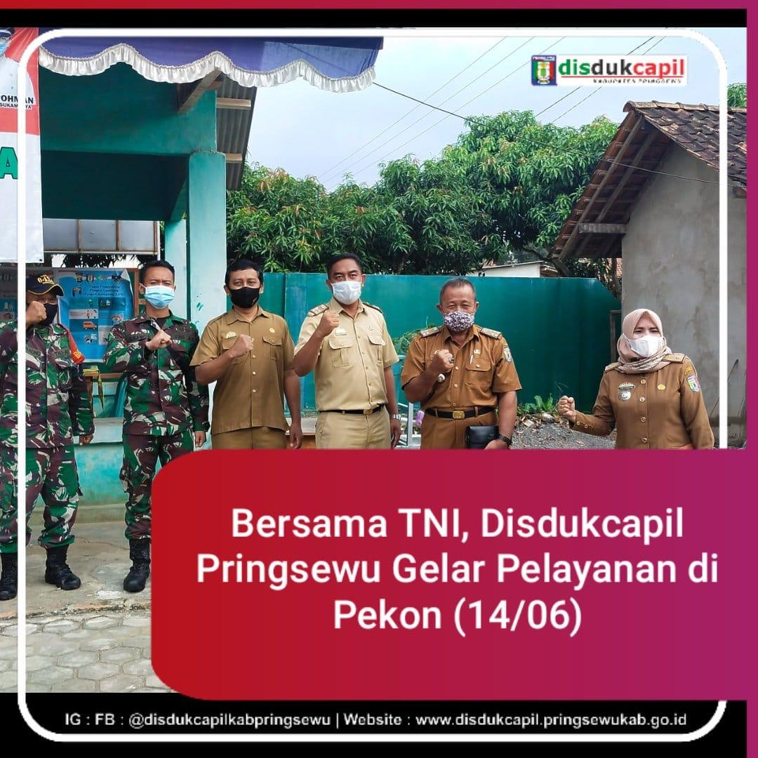 Bersama TNI, Disdukcapil Pringsewu Gelar Pelayanan di Pekon